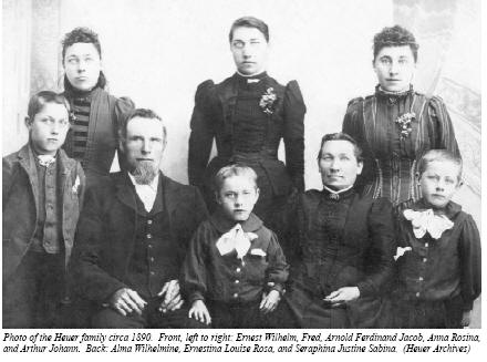 Photo of Johann Friedrich Heuer Family Circa 1890
